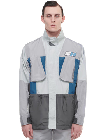 """FM-2030"" Color Blocked Utility Pockets Tactical Jacket"