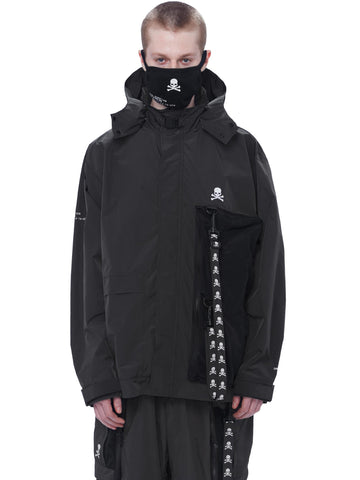 "C2H4® X MASTERMIND JAPAN ""TX-074"" Logo Stripe Utility Pocket Windbreaker"