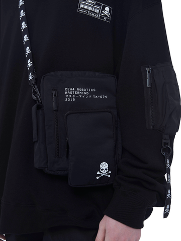 "C2H4® X MASTERMIND JAPAN ""TX-074"" Logo Stripe Shoulder Bag"