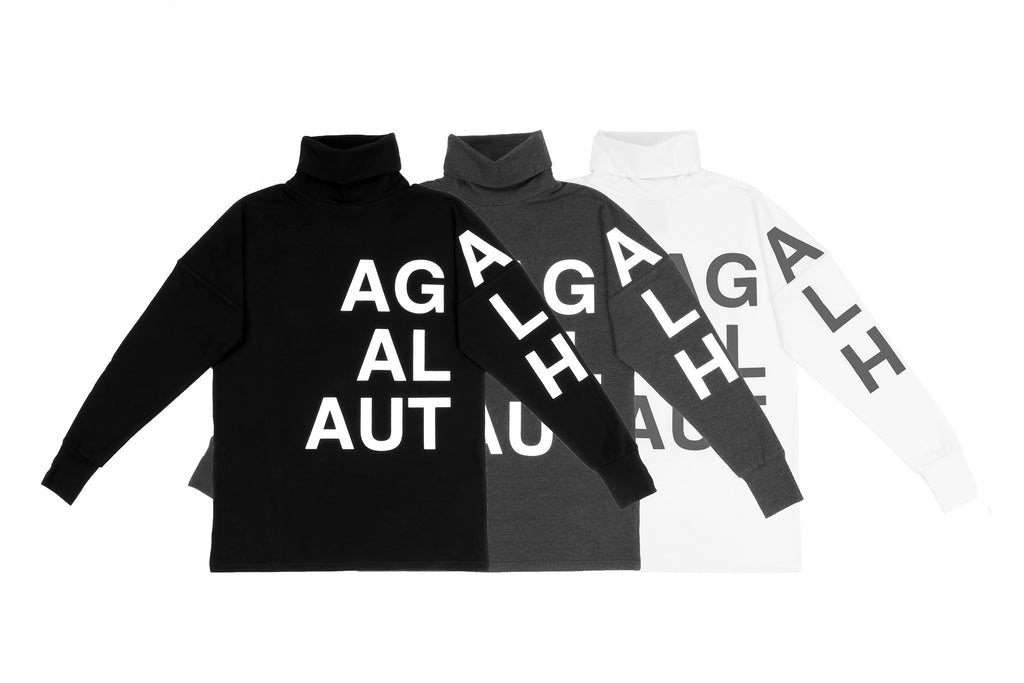 "15FW ""AGAINST ALL AUTHORITY"" TURTLENECK LONG SLEEVE TEE"
