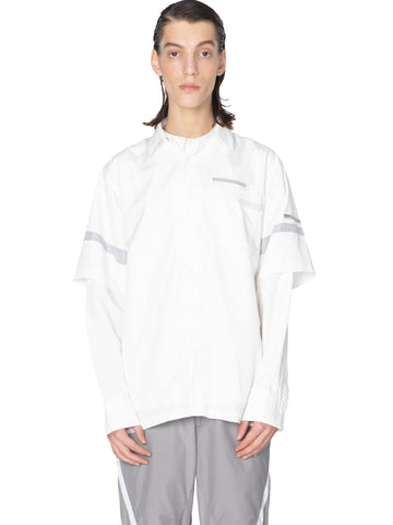 """Post Human Era"" Time Secret-Service Panelled Short Sleeve Shirt"