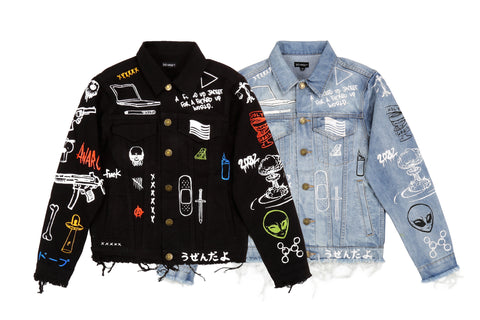 """C2H4 x HIYASET"" GRAFFITI DENIM JACKET"
