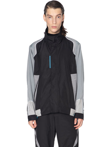 """Post Human Era"" Interstellar Liaison Panelled Zip-Up Windbreaker"