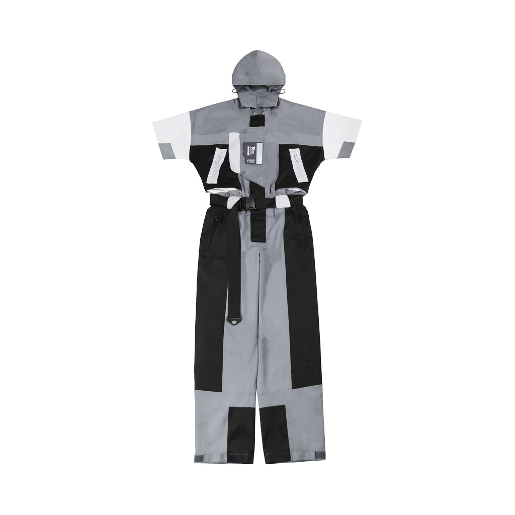 """FM-2030"" COLOR BLOCKED SHORT SLEEVE JUMPSUIT"