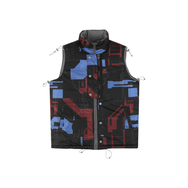 "18FW ""SYSTEM ON CARBON"" Reversible User Interface Cords Down Vest"
