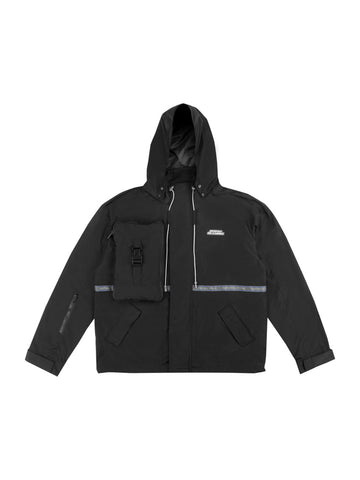 "18FW ""SYSTEM ON CARBON"" Utility Concealed Pocket Data Cable Windbreaker"