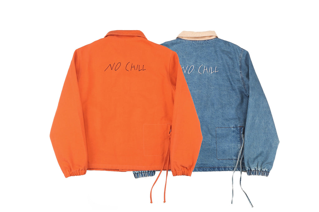"16FW ""NO CHILL"" CIGARETTE COACH JACKET"