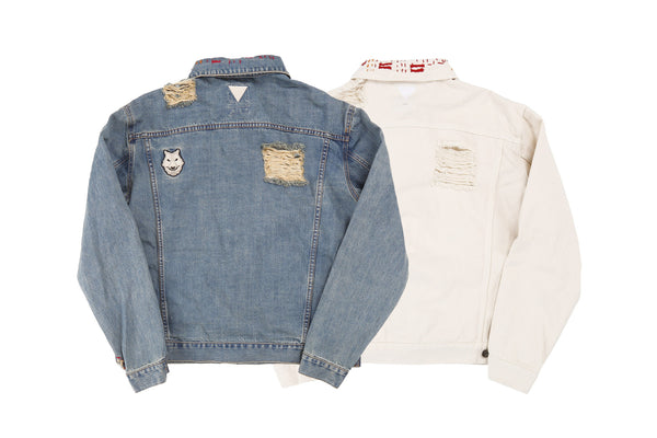 "16SS ""ICE COLD"" DISTRESSED DENIM JACKET"