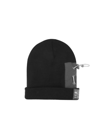 "18FW ""SYSTEM ON CARBON"" Zip Pocket Patch Beanie"