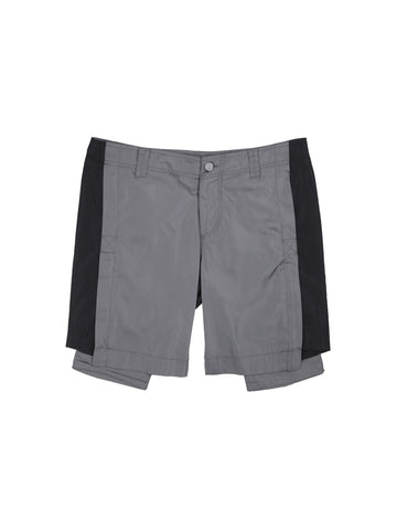 """FM-2030"" Back Pockets Splicing Shorts"