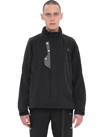 """Neonaissance"" Panelled Intervein Stitch Convertible Track Jacket"