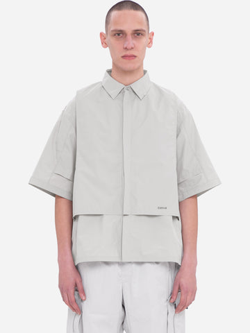 """Neonaissance"" Intervein Layered Short-Sleeve Shirt"