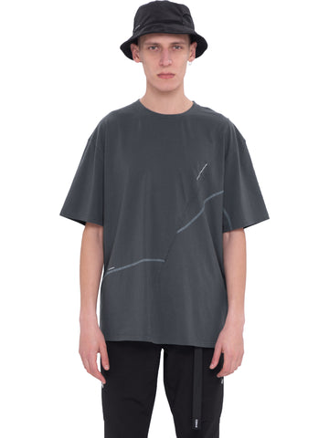 """Neonaissance"" Crooked Panelled T-shirt"