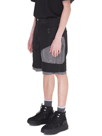 """Neonaissance"" Crooked Double Layered Tactical Shorts"