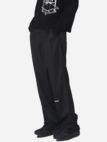 """Post Human Era"" Trailblazer Pleated Turn-Up Tailor Trousers"