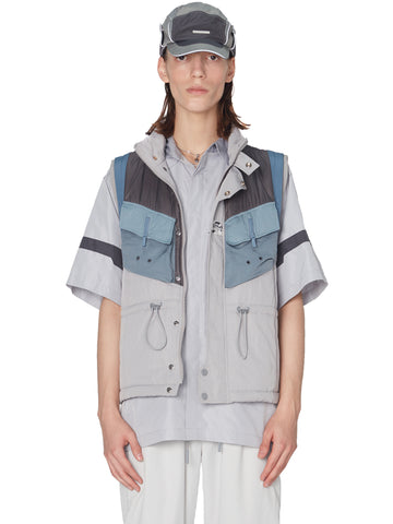 """Post Human Era"" Memory Supervisor Panelled Quilted Gilet"