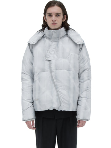 """Filtered Reality"" Arc Sculpture Puffer Jacket"