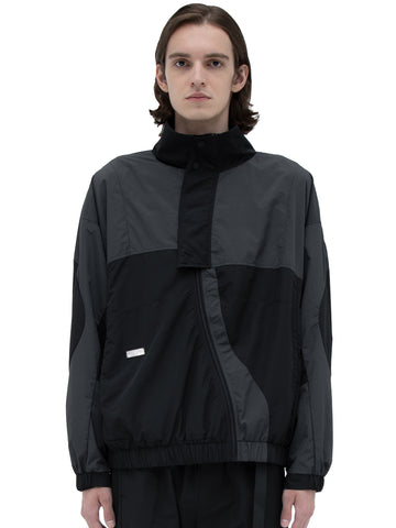 """Filtered Reality"" Intervein Panelled Track Jacket"