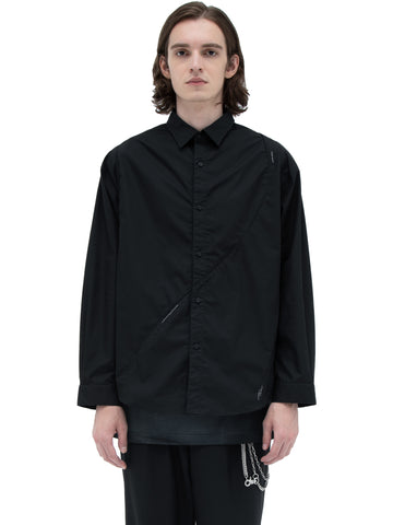 """Filtered Reality"" Intervein Panelled Shirt"