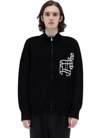 """Filtered Reality"" ZIP-UP SWEATER"