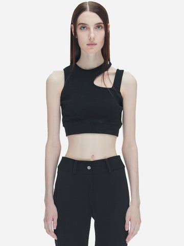 """Filtered Reality"" Streamline Cutting Sporty Bra"
