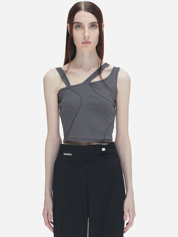 """Filtered Reality"" Asymmetrical Tanktop"