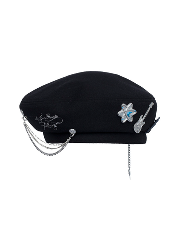 """My Own Private Planet"" Badged Beret"