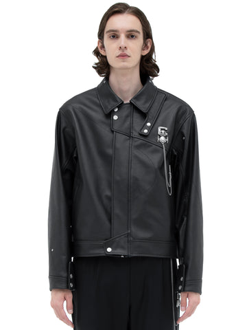"C2H4® X MASTERMIND JAPAN ""C-MASTERMIND"" Streamline Leather Jacket"