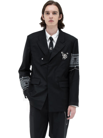 "C2H4® X MASTERMIND JAPAN ""C-MASTERMIND"" Layered Two-button Tailored Jacket"