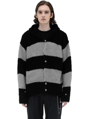 "C2H4® X MASTERMIND JAPAN ""C-MASTERMIND"" Knitted Stripe Hooded Sweater"