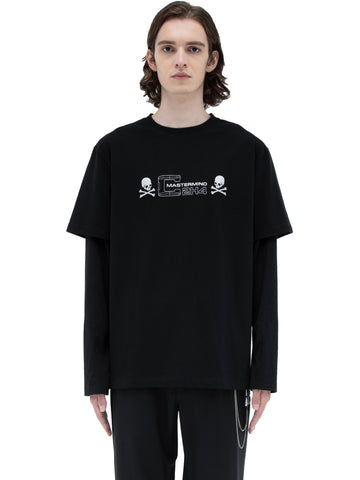 "C2H4® X MASTERMIND JAPAN ""C-MASTERMIND"" Double Layer Glitter Powder Long Sleeve T-shirt"