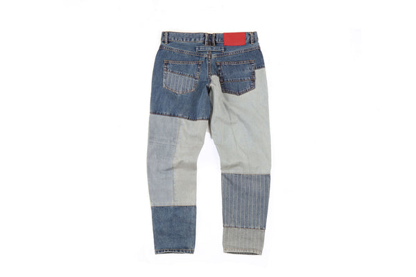 "16SS ""ICE COLD"" PATCHWORK CROPPED JEANS"