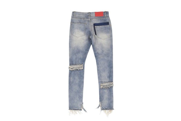 "16SS ""ICE COLD"" HEAVY DISTRESS JEANS"