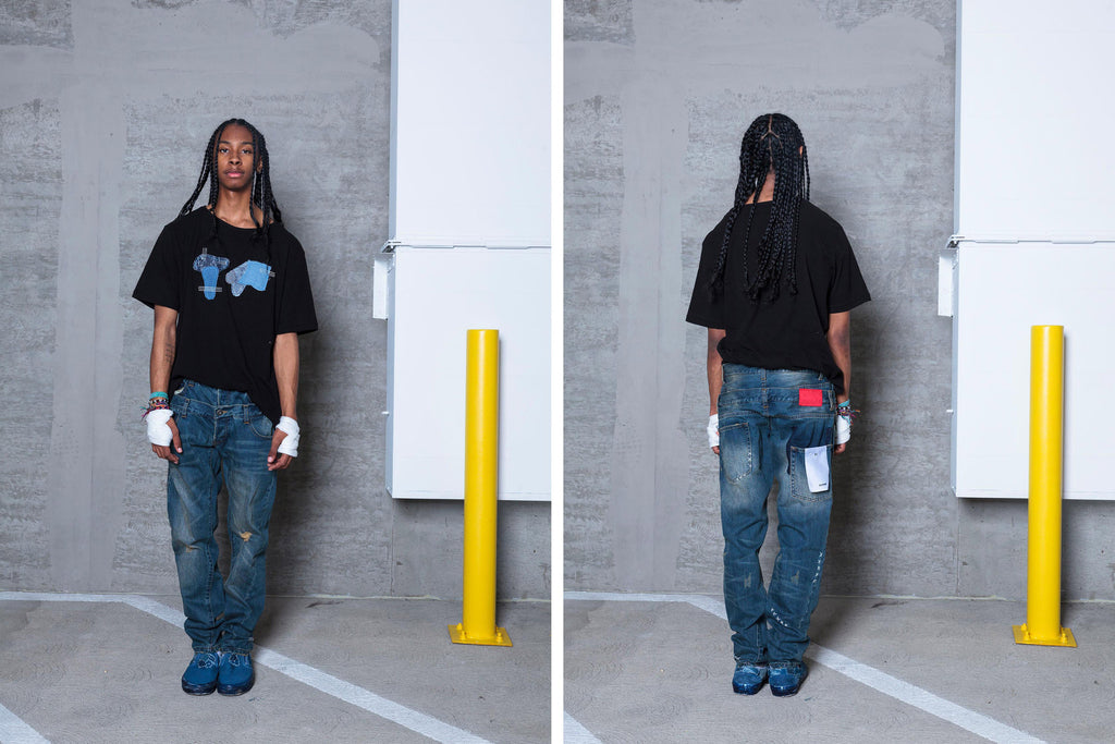 "16SS ""ICE COLD"" DOUBLE WAIST JEANS"