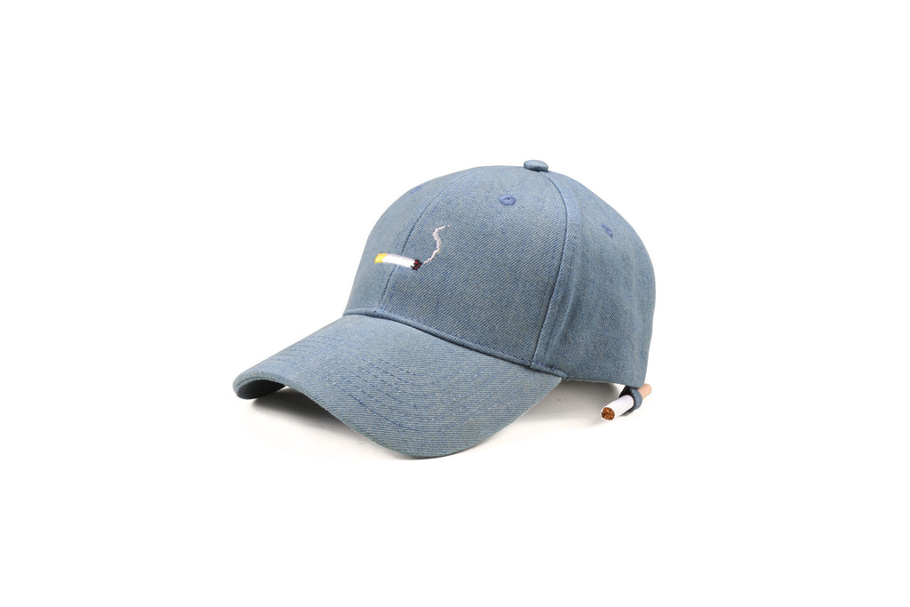 "16FW ""NO CHILL"" DENIM CIGARETTE BASEBALL CAP"