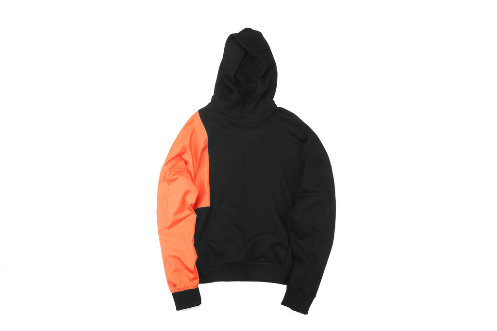 "16FW ""NO CHILL"" MA-1 SLEEVE HOODIE"