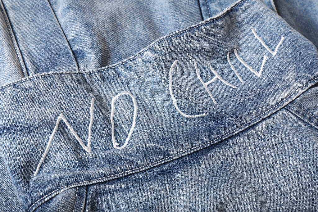 "16FW ""NO CHILL"" Vtg 90s WINDBREAKER DENIM JACKET"