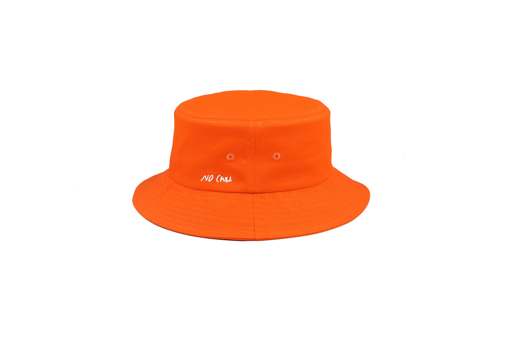 "16FW ""NO CHILL"" ORANGE BUCKET HAT"