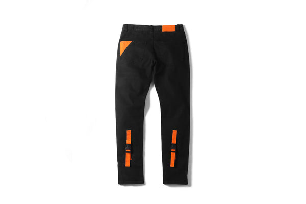 "16FW ""NO CHILL"" ORANGE STRAP JEANS"