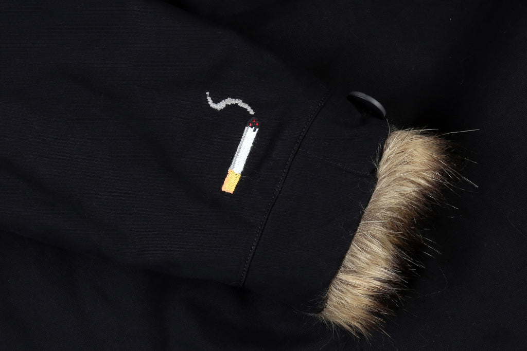 "16FW ""NO CHILL"" BLACK FUR JACKET"