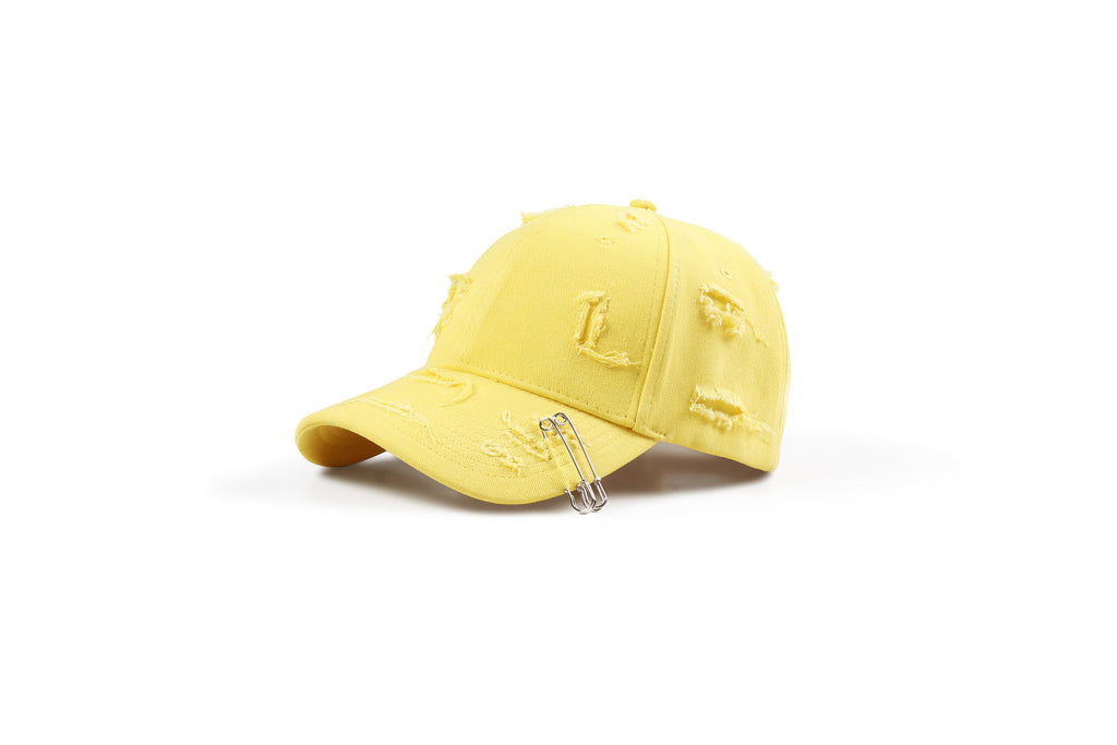 "17SS ""SOUR BULLET"" DISTRESSED PIN BASEBALL HAT"