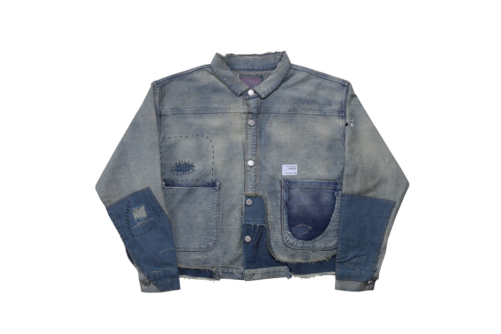 "17FW ""POST APOCALYPSE"" DEBRIS DENIM JACKET"