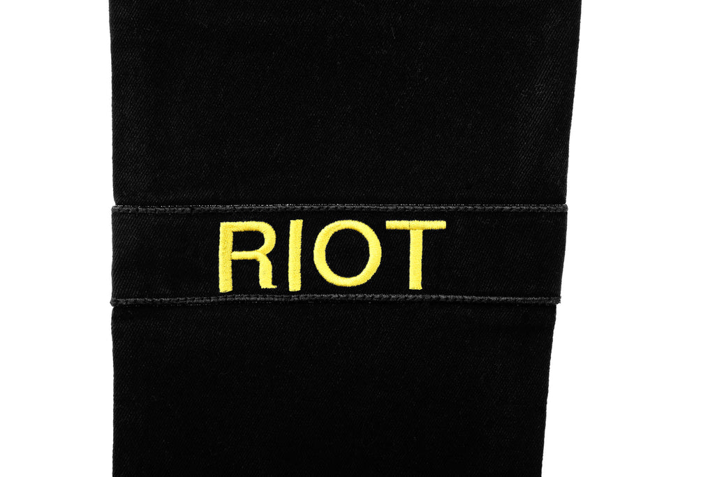 "15FW ""AGAINST ALL AUTHORITY"" RIOT PATCH JEANS"
