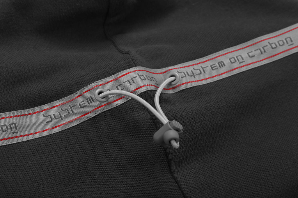 "18FW ""SYSTEM ON CARBON"" UTILITY MULTI-POCKETS DATA CABLE HOODIE"
