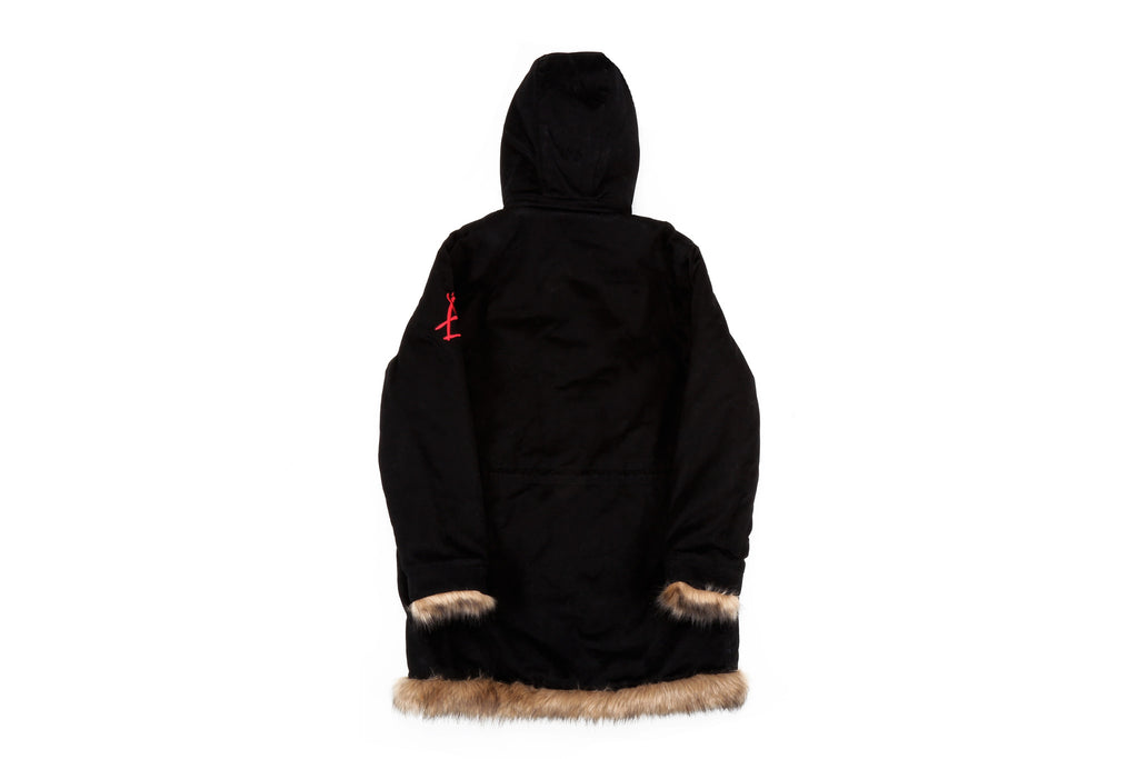 "15FW ""AGAINST ALL AUTHORITY"" FUR TRENCH COAT"