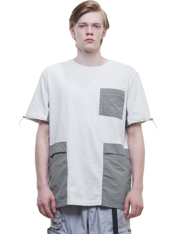 """FM-2030"" Panelled Pockets T-Shirt"