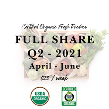 Load image into Gallery viewer, Weekly Fresh Produce: 2021 Q2 Full Share, April-June