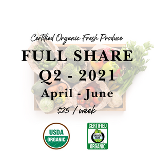 Weekly Fresh Produce: 2021 Q2 Full Share, April-June