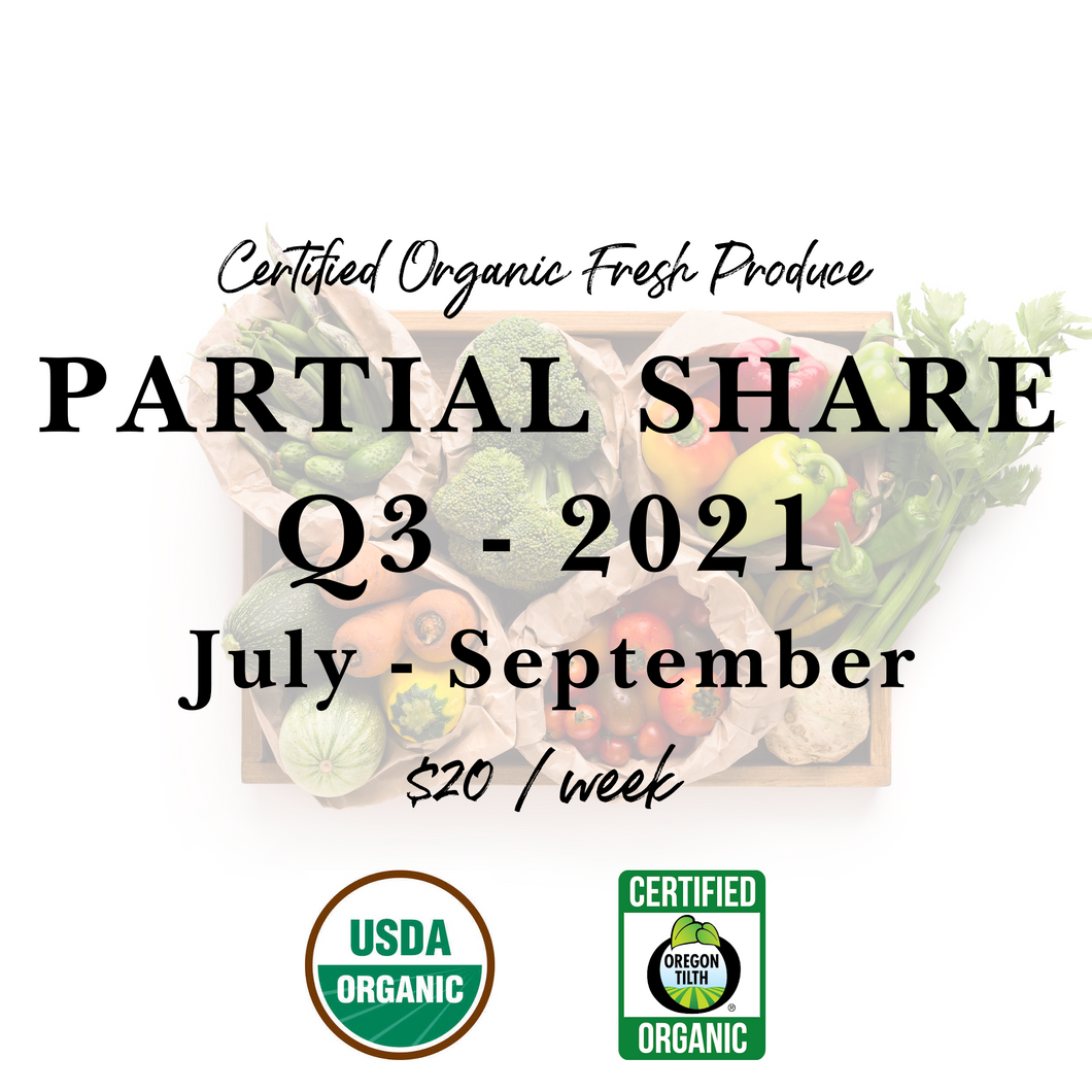 Weekly Fresh Produce: 2021 Q3 Partial Share, July-September