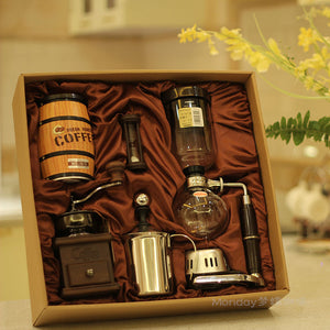 Siphon coffee maker gift pack Coffee machine Glass coffee pot